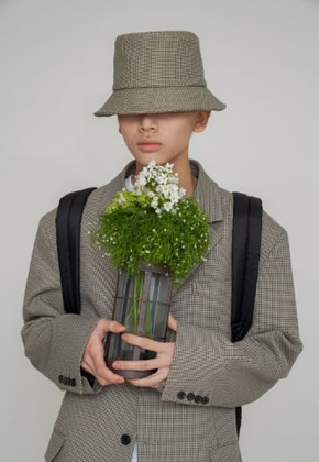 STU에스티유 (LLUD 단독상품) Check bucket hat green