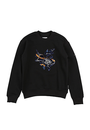 AJO BY AJO FINK LABEL Symbol Sweat Shirt [Black]