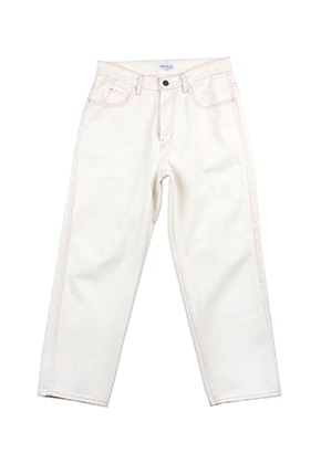 AJO BY AJO FINK LABEL Symbol Relaxed Denim[White]