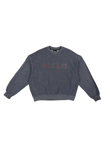 AJO BY AJO아조바이아조 Oversized Slit Sweat Shirt [Blue]