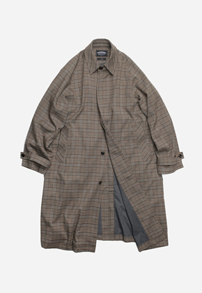 FRIZMWORKS프리즘웍스 Oversized balmacaan coat _ glen check