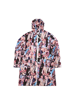 AJO BY AJO FINK LABEL XXX Long Windbreaker [Purple]