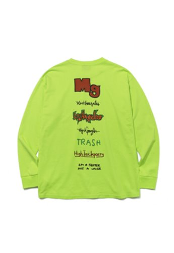 Markgonzales마크곤잘레스 M/G TYPOGRAPHY LONG SLEEVE TEE NEON