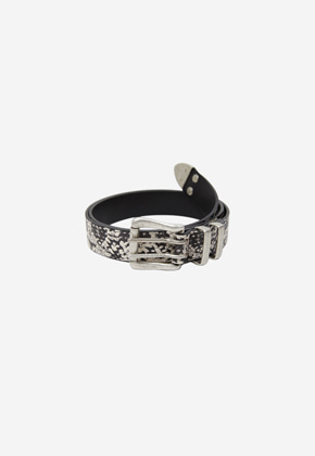 Anderssonbell앤더슨벨 ANTIQUE BUCKLE LEATHER BELT aaa206m PYTHON
