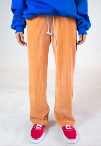 Evan Laforet에반라포레 [UNISEX] CORDUROY LOOSE FIT PANTS - PEACH