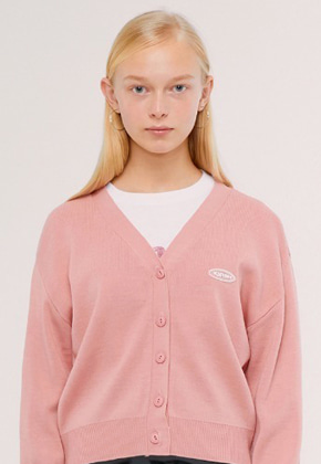KIRSH키르시 KNIT SLIM CARDIGAN IS [PINK]