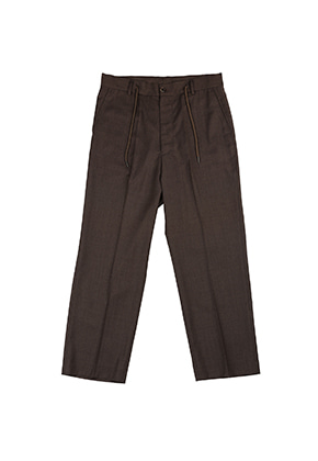 AJO BY AJO FINK LABEL Tailored Relaxed Pants [Brown]