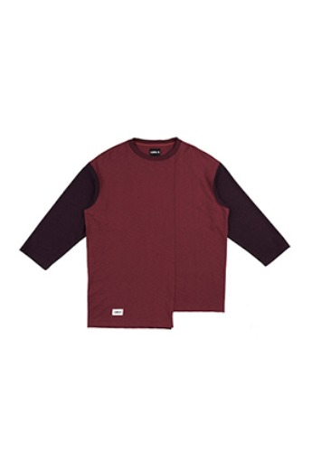 AJO BY AJO아조바이아조 Long Knit Sleeve T-Shirt [Wine]