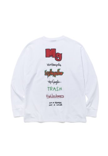 Markgonzales마크곤잘레스 M/G TYPOGRAPHY LONG SLEEVE TEE WHITE