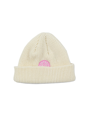 AJO BY AJO FINK LABEL Symbol Short Beanie [Cream]