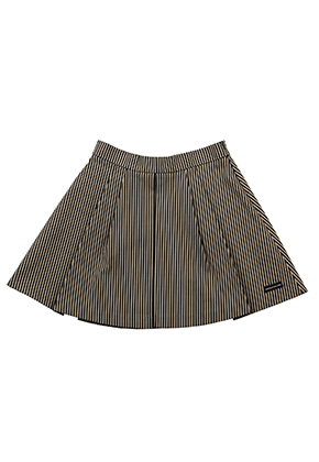 AJO BY AJO FINK LABEL Stripe Flare Skirt [Black]