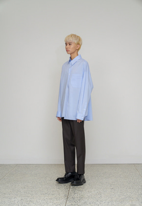 STU에스티유 Overfit shirt skyblue