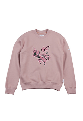AJO BY AJO FINK LABEL Symbol Sweat Shirt [Pink]