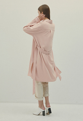 Haleine알렌느 PEACH silky oversize dress(IT056)
