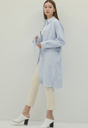 Haleine알렌느 BLUE gingham checks oversize dress(IT055)