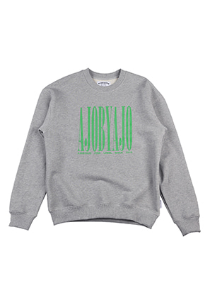 AJO BY AJO FINK LABEL Retro Logo Sweat Shirt [Grey]