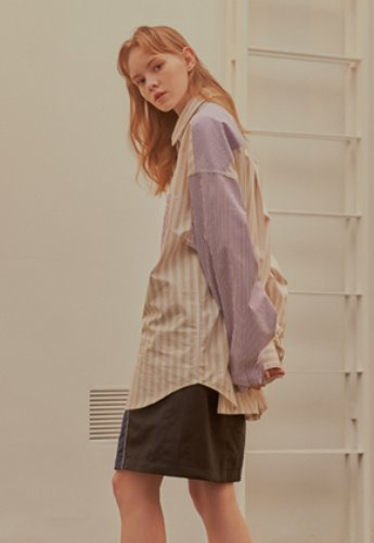 INNER CITY AUDIO이너시티오디오 COLOR MIXED SHIRT PURPLE
