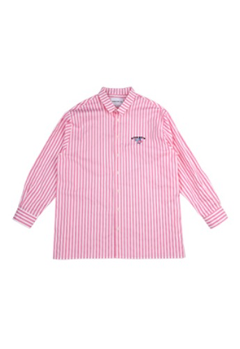 AJO BY AJO FINK LABEL Stripe Unicorn Shirt [Pink]