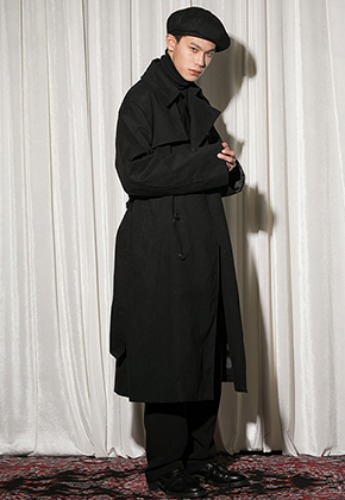 Flare up플레어업 [FLARE] over trench coat BK (FL-012)