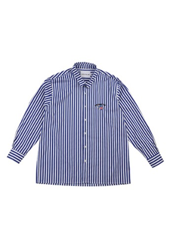 AJO BY AJO FINK LABEL Stripe Unicorn Shirt [Blue]
