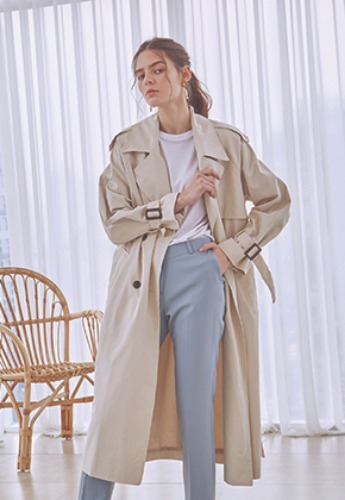 Deans딘스 [DEANS] COTTON CLASSIC TRENCH COAT_LIGHT BEIGE