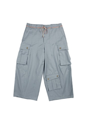 AJO BY AJO아조바이아조 Oversized Tri Pocket Pants [Sky blue]