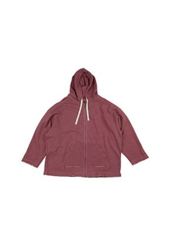 AJO BY AJO아조바이아조 Oversized Pigment Bio Washed Hoodie [Pink]