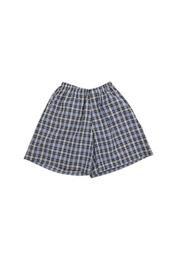AJO BY AJO아조바이아조 Check Seersucker Shorts [Navy]