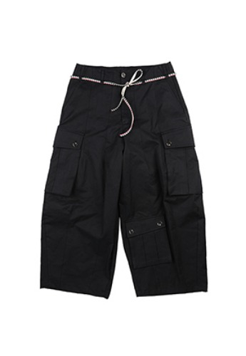 AJO BY AJO아조바이아조 Oversized Tri Pocket Pants [Black]