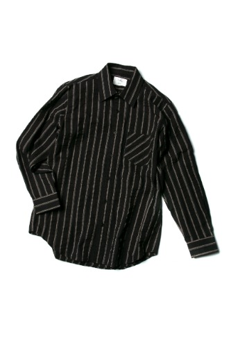 Double:L더블엘 WRINKLED STRIPE SHIRTS