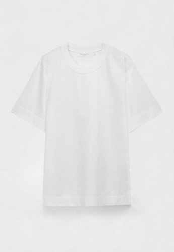Evan Laforet에반라포레 KNIT NECK OVERSIZED T-SHIRT WHITE
