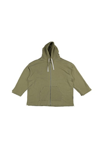 AJO BY AJO아조바이아조 Oversized Pigment Bio Washed Hoodie [Yellow green]