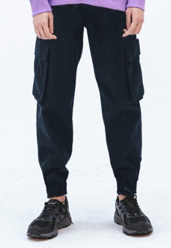 FROMMARK프롬마크 FMK TWO TUCK CARGO JOGGER PANTS  NAVY