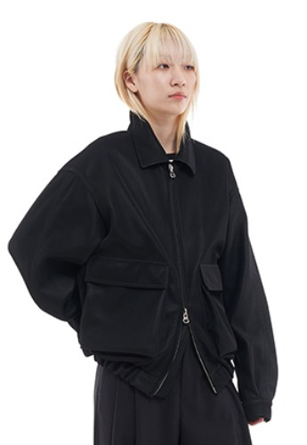 Vuiel뷔엘 OVERSIZED LEATHER BOMBER JACKET