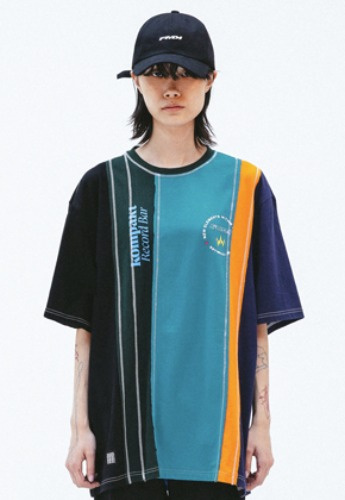 FROMMARK프롬마크 FMK x KOMPACKT MULTI MIXED CUT T-SHIRT 1  EMERALD GREEN
