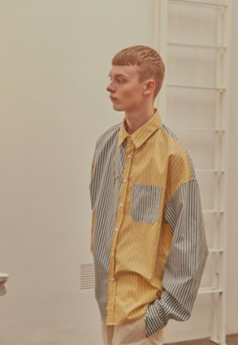 INNER CITY AUDIO이너시티오디오 COLOR MIXED SHIRT YELLOW