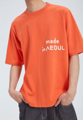 NOHANT노앙 MADE IN SEOUL T SHIRT ORANGE