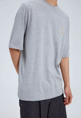 NOHANT노앙 LOVE CITY WAPPEN T SHIRT GRAY
