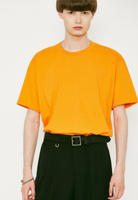 Voiebit브아빗 V367 BASIC OVERFIT HALF-TEE  ORANGE