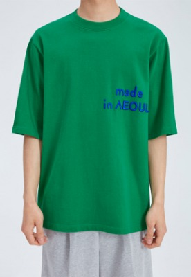 NOHANT노앙 MADE IN SEOUL T SHIRT GREEN