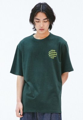 FROMMARK프롬마크 [FMK] FMK CERCLE GRAPHIC T-SHIRT  D/GREEN