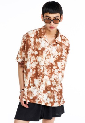 The Greatest더 그레이티스트 GT19SUMMER 02 Flower Shirts BROWN