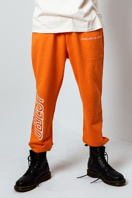 Object오브젝트 OBJECT LOGO SWEATPANTS (ORANGE)