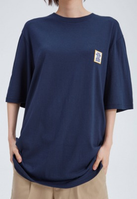 NOHANT노앙 LOVE CITY WAPPEN T SHIRT NAVY