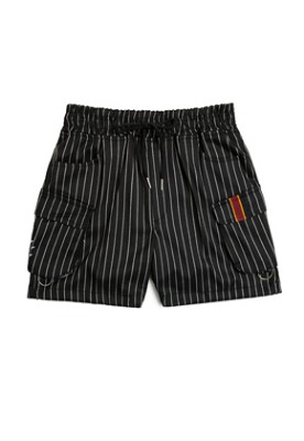 Romantic Crown로맨틱크라운 E.D.V Stripe Shorts_Black