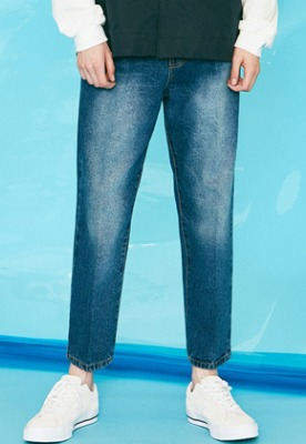 Voiebit브아빗 V273 STABLE CROP DENIM PANTS  BLUE