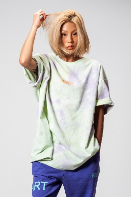 Object오브젝트 TIE DYE OVERSIZED T-SHIRT (MINT)