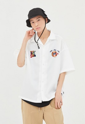 Romantic Crown로맨틱크라운 Life Belt Souvenir Shirts_White