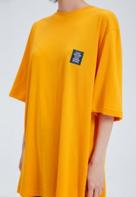 NOHANT노앙 LOVE CITY WAPPEN T SHIRT MUSTARD