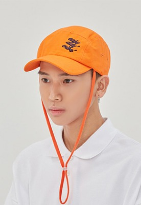 Romantic Crown로맨틱크라운 E.D.V Rope Camp Cap_Orange
